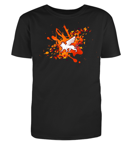 ROYALTY SPLATTER BLACK TEE - Royalty Exotic Cars