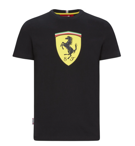 Scuderia Ferrari F1 Men's Large Shield T-Shirt Black