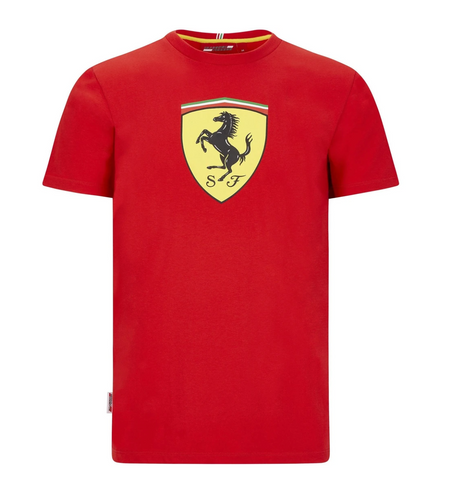Scuderia Ferrari F1 Men's Large Shield T-Shirt Red