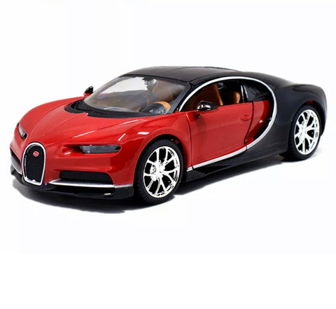 1:18 Model Car - Red Bugatti Chiron - Royalty Exotic Cars