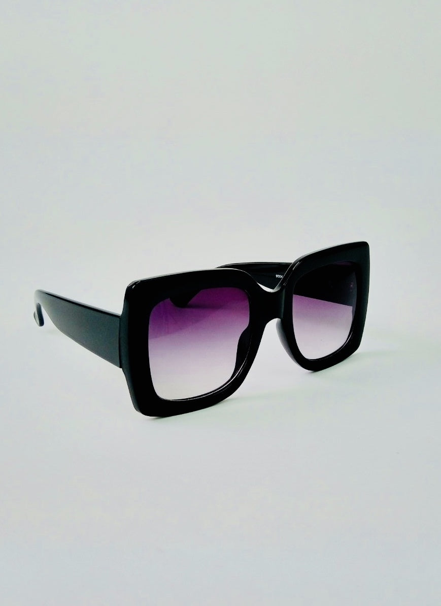 Black Chunky Framed Sunglasses