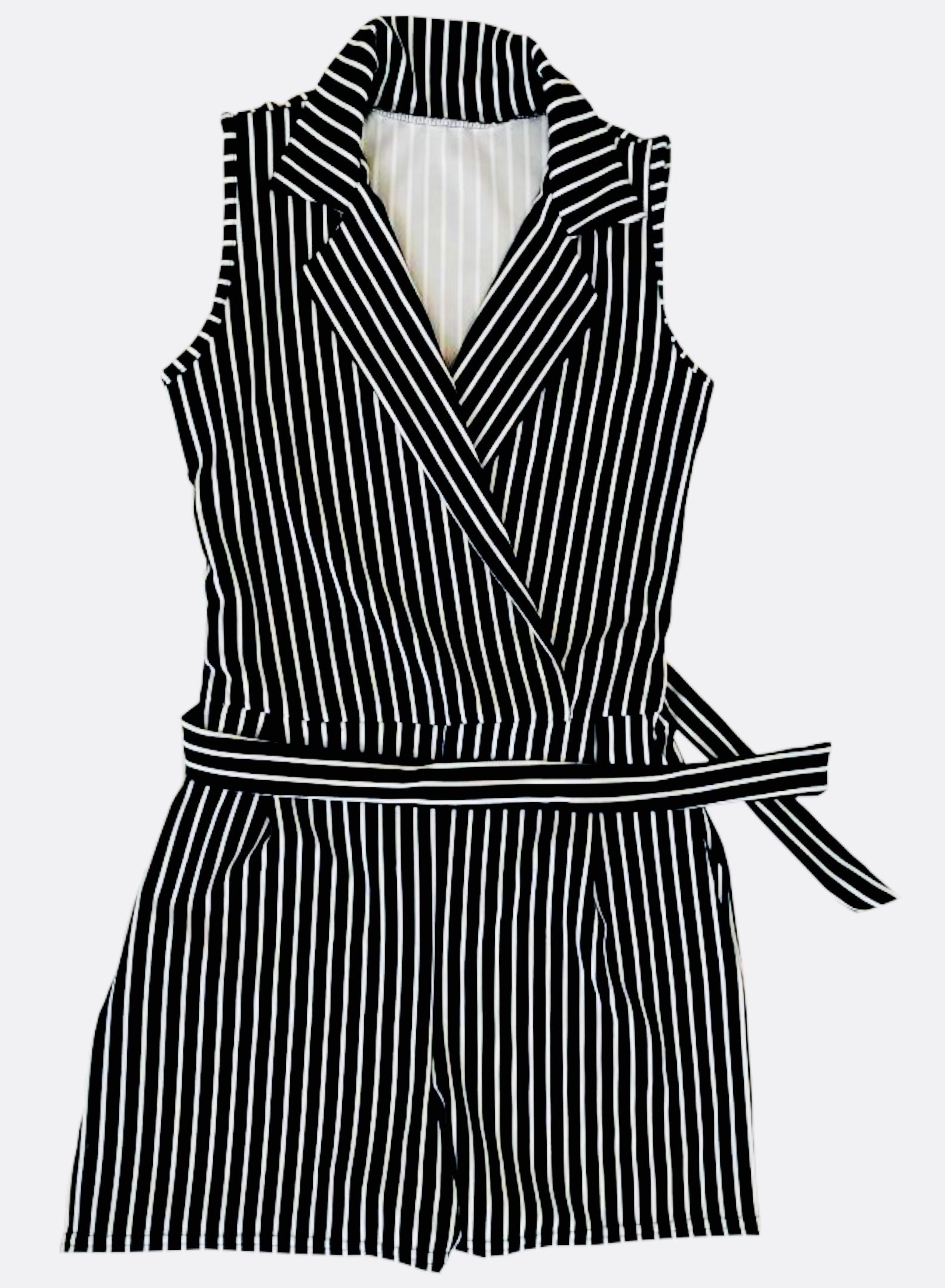 Navy Blue Pinstripe playsuit