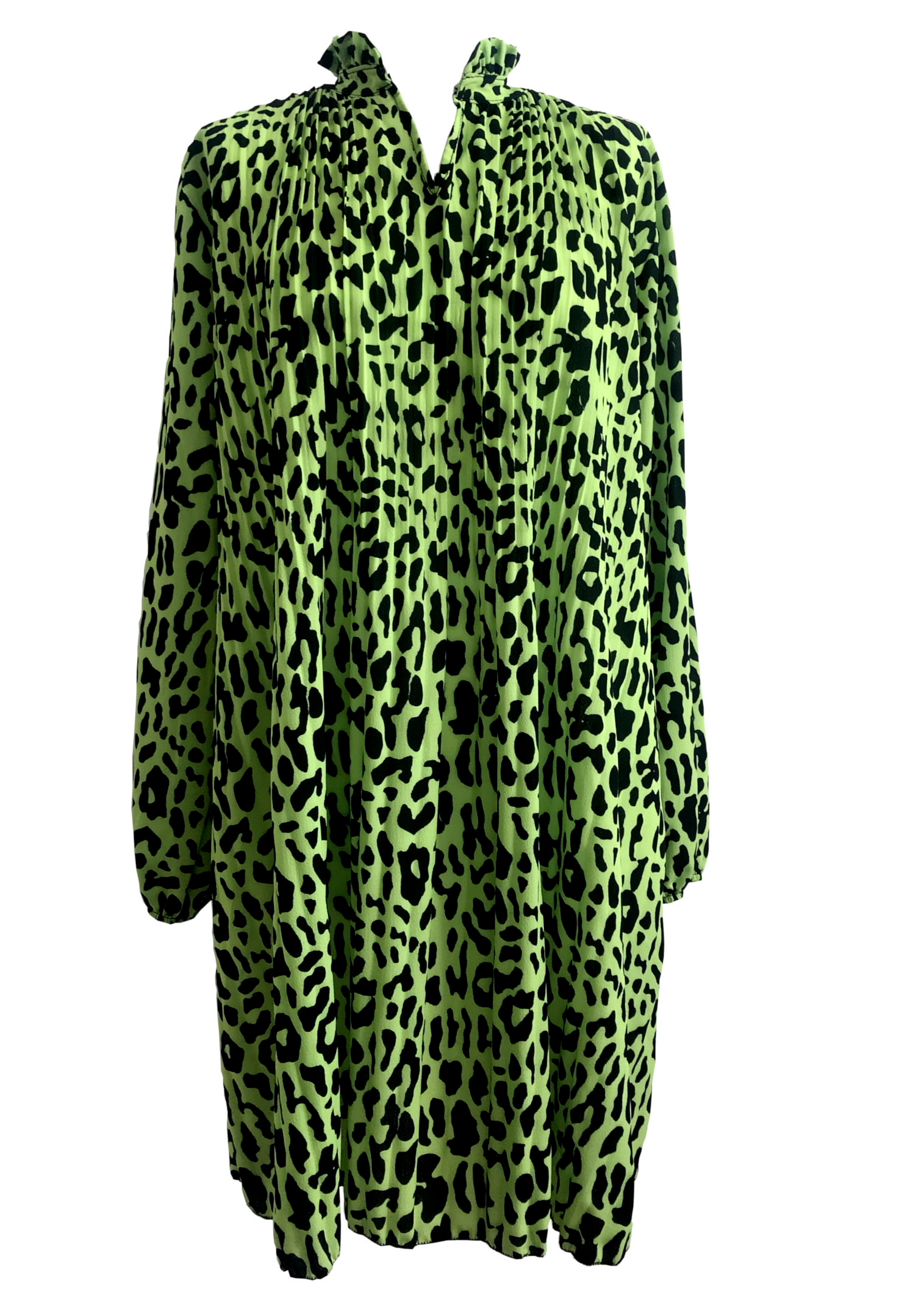 Green Animal Print Dress