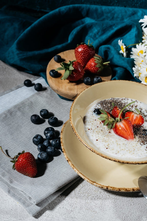 Blueberry and chia seed breakfast bowl