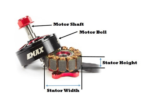 Drone Brushless Motor Size Diagram