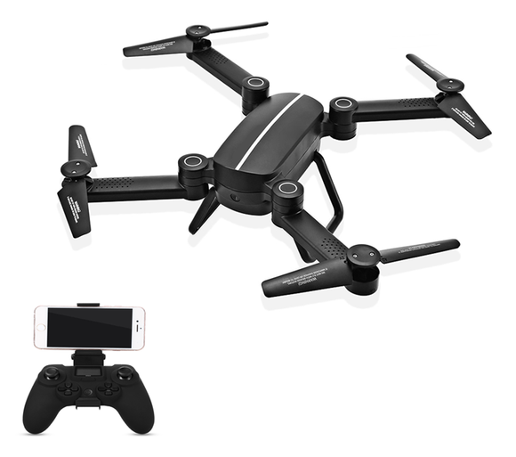 Skyhunter Pro Foldable Drone Wifi HD Camera w/ 3 Batteries - Geez Drones