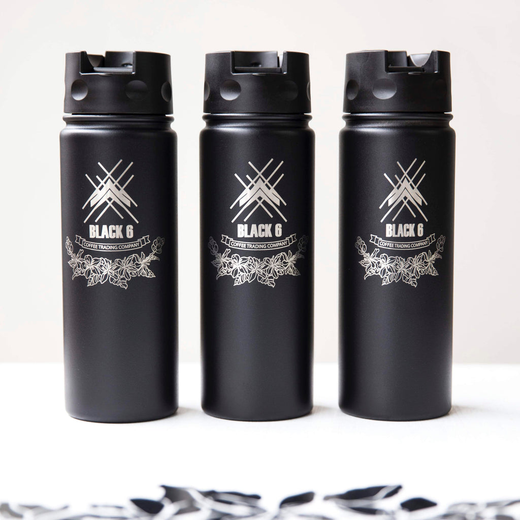 Black 6 Coffee Stainless Steel Bottle