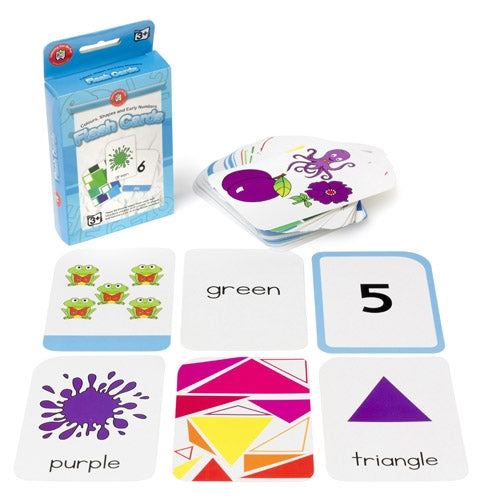 COLOURS, SHAPES & EARLY NUMBERS Write & Wipe Flash Cards