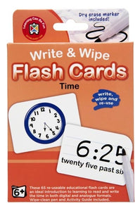 TIME, Write & Wipe flash cards