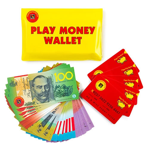 Play Money Incl Wallet, Notes & Credit Cards
