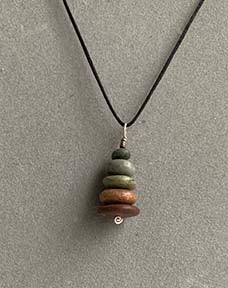 Cairn beach rock necklace