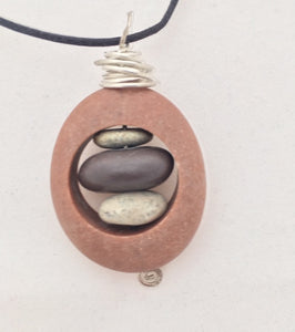 Beach Rock Nest style pendant