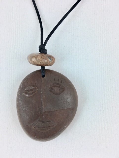 Cubist Face necklace
