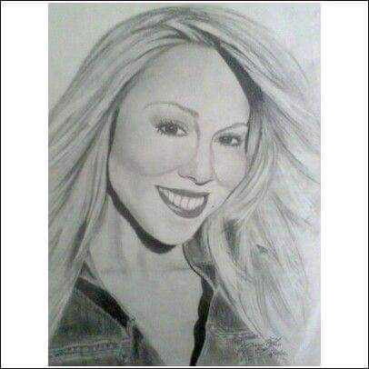 Drawing of Mariah Carey
