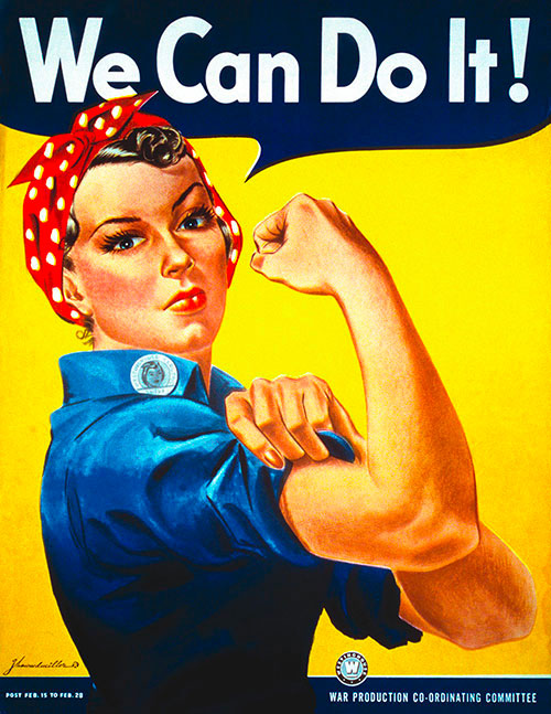 Affiche Rosie the Riverter we can do it