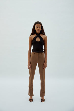 Sixtine Pant | Beige Chiné | pants NZ | MUSIER PARIS NZ | Black Box Boutique Auckland | Womens Fashion NZ