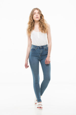 Zoe | Light Stone | Denim NZ | DR DENIM NZ | Black Box Boutique Auckland | Womens Fashion NZ