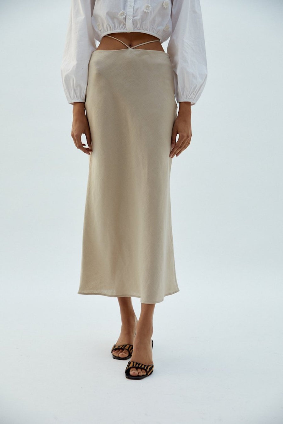 Hope Skirt | Beige | skirts NZ | MUSIER PARIS NZ | Black Box Boutique Auckland | Womens Fashion NZ