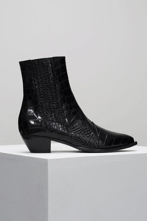 Frida | Black Croc | D.O.F NZ | Footwear NZ | Black Box Boutique Auckland | Womens Fashion NZ