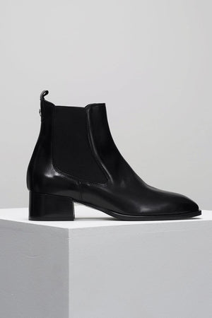 Rocco | Black Leather | D.O.F NZ | Footwear NZ | Black Box Boutique Auckland | Womens Fashion NZ