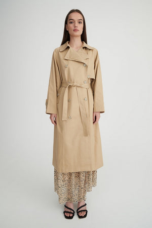 Dempsey Trench Coat | Safari | coats NZ | HANSEN & GRETEL NZ | Black Box Boutique Auckland | Womens Fashion NZ