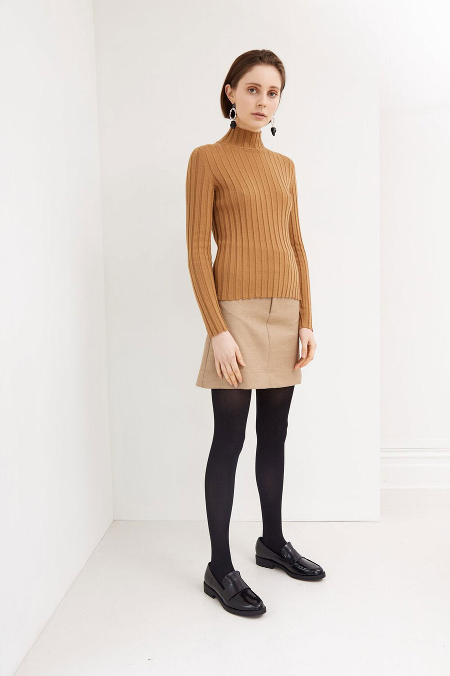 Autumn Knit | Tan | Tops NZ | IDAE NZ | Black Box Boutique Auckland | Womens Fashion NZ