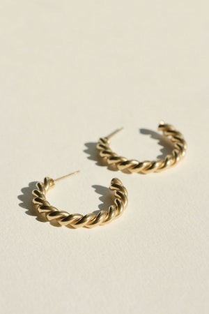 Large Twist Stud Earrings | Gold | Jewellery NZ | BRIE LEON NZ | Black Box Boutique Auckland | Womens Fashion NZ