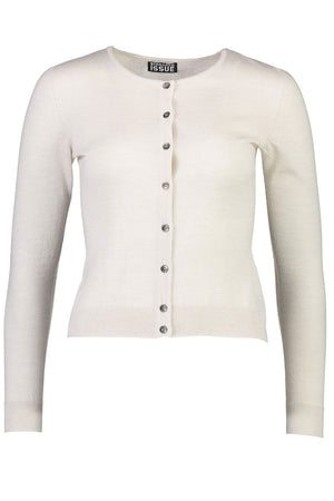 Crop Crew Cardi | Alabaster | Tops NZ | STANDARD ISSUE NZ | Black Box Boutique Auckland | Womens Fashion NZ