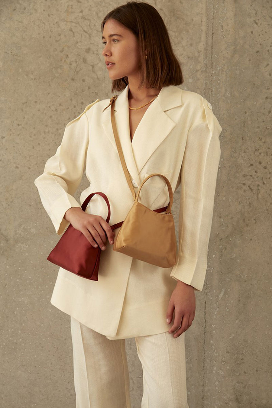 The Mini Chloe Satin | Desert Red | Bags NZ | BRIE LEON NZ | Black Box Boutique Auckland | Womens Fashion NZ