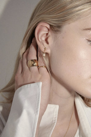 Ricci Studs | Gold | Jewellery NZ | FLASH JEWELLERY NZ | Black Box Boutique Auckland | Womens Fashion NZ