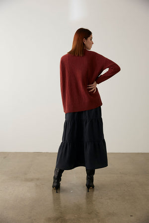 Jo Jumper | Bordeaux | Tops NZ | MARLE NZ | Black Box Boutique Auckland | Womens Fashion NZ
