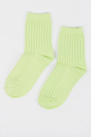 Her Socks | Solid Lime | Accessories NZ | LE BON SHOPPE NZ | Black Box Boutique Auckland | Womens Fashion NZ
