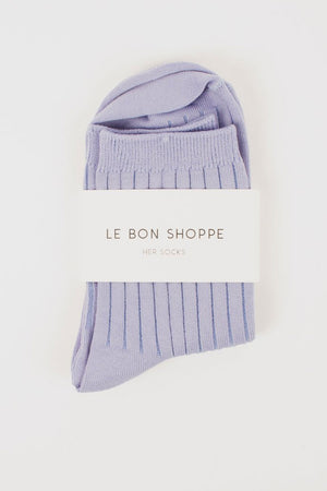 Her Socks | Solid Periwinkle | Accessories NZ | LE BON SHOPPE NZ | Black Box Boutique Auckland | Womens Fashion NZ