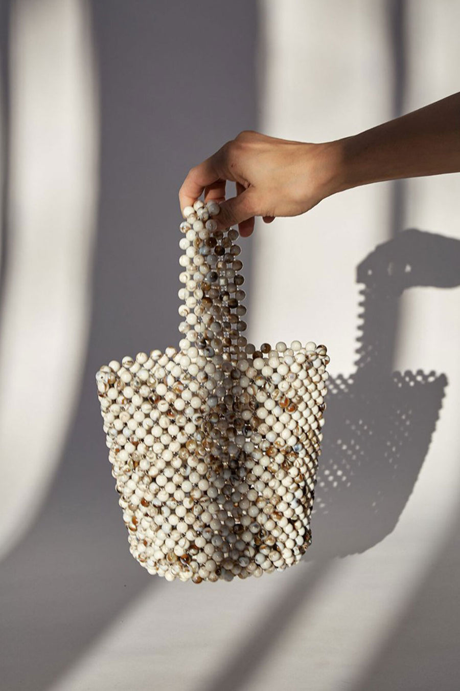 Mini Bead Bag | Cream Mix | Bags NZ | BRIE LEON NZ | Black Box Boutique Auckland | Womens Fashion NZ