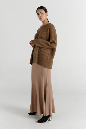Jo Jumper | Pecan | MARLE NZ | knitwear NZ | Black Box Boutique Auckland | Womens Fashion NZ