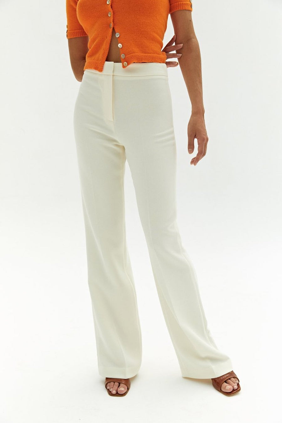 Becky Pant | Ivory | pants NZ | MUSIER PARIS NZ | Black Box Boutique Auckland | Womens Fashion NZ