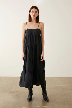 OPHELIA DRESS | BLACK SILK | Dresses NZ | MARLE NZ | Black Box Boutique Auckland | Womens Fashion NZ