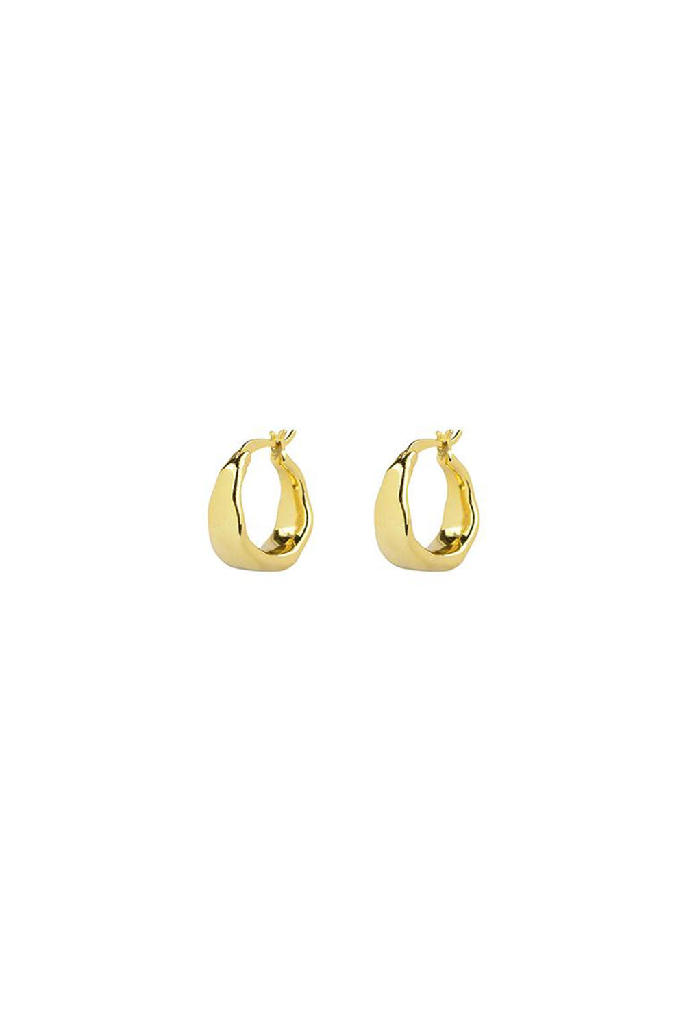 ORGANICA CURVED EARRINGS | GOLD | BRIE LEON NZ | Jewellery NZ | Black Box Boutique Auckland | Womens Fashion NZ