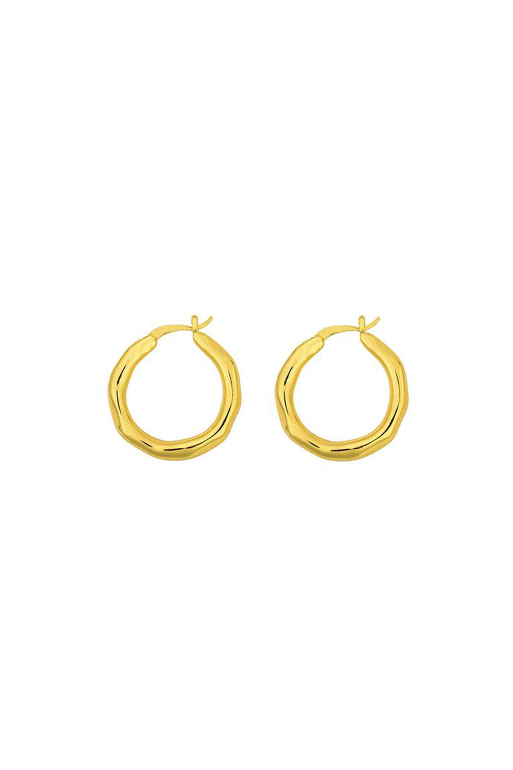 ORGANICA HOOPS SMALL | GOLD | BRIE LEON NZ | Jewellery NZ | Black Box Boutique Auckland | Womens Fashion NZ