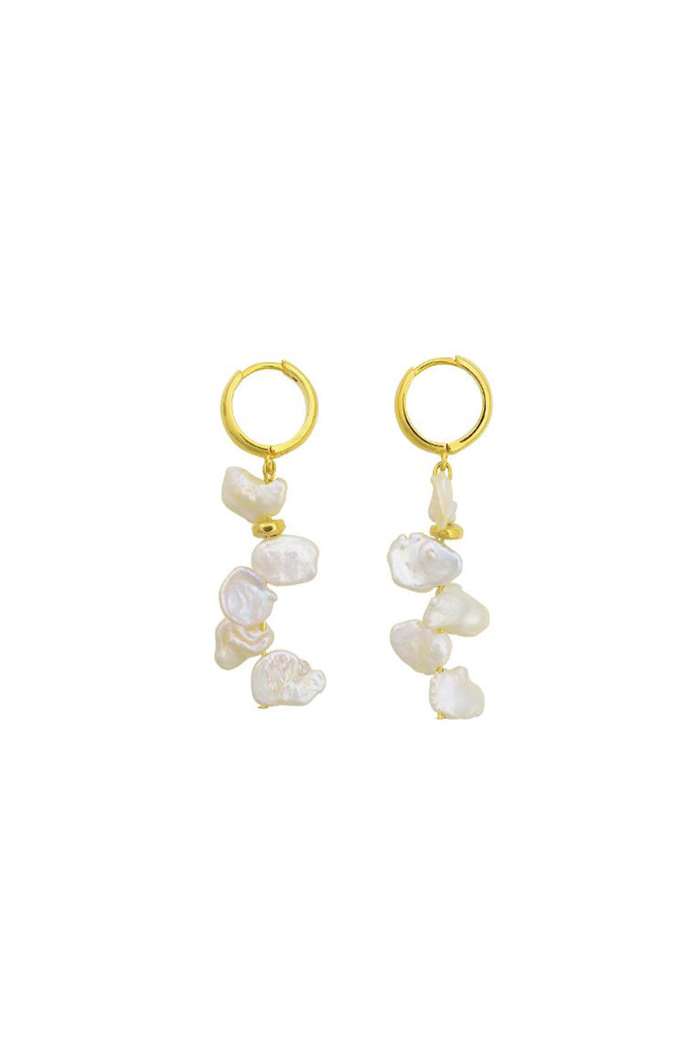 PEARL CLUSTER DROP EARRINGS | GOLD | BRIE LEON NZ | Jewellery NZ | Black Box Boutique Auckland | Womens Fashion NZ