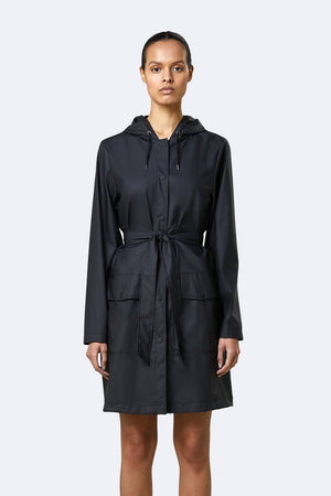 Belt Jacket | Black | jackets NZ | RAINS NZ | Black Box Boutique Auckland | Womens Fashion NZ