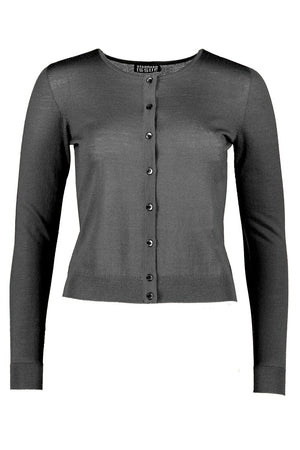Crop Crew Cardi | Gunmetal | STANDARD ISSUE NZ | Tops NZ | Black Box Boutique Auckland | Womens Fashion NZ