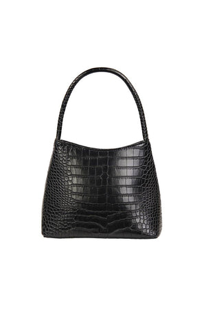 THE CHLOE | MATTE BLACK CROC