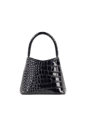 The Mini Chloe | Black Oily Croc | Bags NZ | BRIE LEON NZ | Black Box Boutique Auckland | Womens Fashion NZ