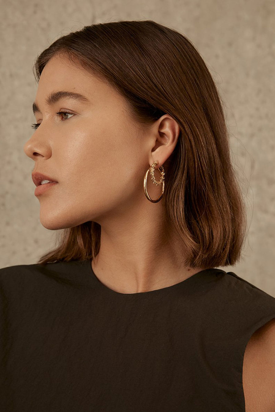 The Zoe Stack Hoops | Gold | BRIE LEON NZ | Jewellery NZ | Black Box Boutique Auckland | Womens Fashion NZ