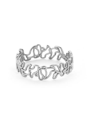 Thin Scribble Ring | Silver | Jewellery NZ | SARAH & SEBASTIAN NZ | Black Box Boutique Auckland | Womens Fashion NZ