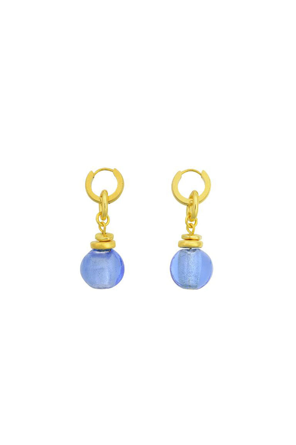 VALENTINA GLASS BEAD EARRINGS | GOLD\BLUE | BRIE LEON NZ | Jewellery NZ | Black Box Boutique Auckland | Womens Fashion NZ