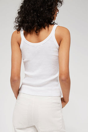 Maya Tank | Whitewash | LACAUSA NZ | Tops NZ | Black Box Boutique Auckland | Womens Fashion NZ