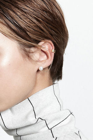 Anchovy Pearl Cuff Earring | Gold | Jewellery NZ | LUCY FOLK NZ | Black Box Boutique Auckland | Womens Fashion NZ