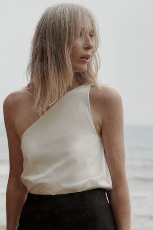 Audrey Top | Cream Cotton | MINA NZ | Tops NZ | Black Box Boutique Auckland | Womens Fashion NZ